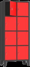 00150507 Szafa skrytkowa na nogach, 2 segmenty, 8 skrytek (wymiary: 2010x810x480 mm)