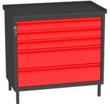 00150663 Szafka warsztatowa, 5 szuflad (wymiary: 850x900x505 mm)