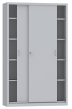 00150807 Szafa przesuwna, 4 półki (wymiary: 1950x1200x400 mm)