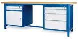 00853651 Stół warsztatowy, 1 drzwi, 6 szuflad (wymiary: 2100x900x740 mm)