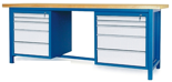 00853655 Stół warsztatowy, 10 szuflad (wymiary: 2100x900x740 mm)