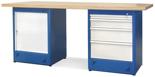 00853696 Stół warsztatowy, 1 drzwi, 4 szuflady (wymiary: 2100x900x740 mm)