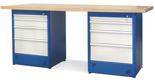 00853697 Stół warsztatowy, 8 szuflad (wymiary: 2100x900x740 mm)