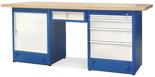 00853698 Stół warsztatowy, 1 drzwi, 5 szuflad (wymiary: 2100x900x740 mm)