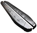 01655951 Stopnie boczne, czarne - Nissan Qashqai 2007-2013 (długość: 171 cm)