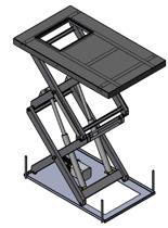 01860647 Podnośnik, podest nożycowy (udźwig: 500 kg, wymiary platformy: 2500x1800mm, wysokość podnoszenia min/max: 500-3500 mm, moc: 2,3kW)