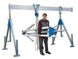 03047236 Wciągarka bramowa aluminiowa z wciągnikiem (szerokość całkowita regulowana: 2100mm, wysokość całkowita regulowana: 1640–2740mm, udźwig suwnicy/wciągnika: 1000/1000kg kg)