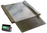 04048997 Waga najazdowa ze stali szlachetnej z legalizacją (nośność: 300 kg, podziałka: 100 g, wymiary: 800x800x45 mm)