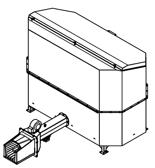 06652844 Automatyczny podajnik do spalania biomasy 2m3 230V 60kW, głowica: żeliwna (paliwo: trociny, wióry, zrębki, kora, brykiet, agrobrykiet, pellet, pestki owoców)