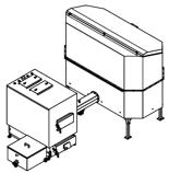 06652970 Automatyczny zestaw do spalania biomasy 2m3 400V 60kW, głowica: żeliwna, bez systemu usuwania popiołu (paliwo: trociny, wióry, zrębki, kora, brykiet, agrobrykiet, pellet, pestki owoców)
