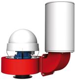 08549370 Wentylator promieniowy dachowy z wylotem pionowym WPA-6-D-3-N 400V (obroty synchroniczne: 3000 1/min, moc: 0,75 kW, wydajność wentylatora: 1700 m3/h)