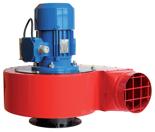 08549398 Wentylator promieniowy stanowiskowy WPA-8-E-3-N 400V (obroty synchroniczne: 3000 1/min, moc: 1,5 kW, wydajność wentylatora: 3900 m3/h)