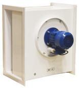 08549501 Wentylator chemoodporny kanałowy BOX-CHEM-160/1500 (obroty synchroniczne: 1500 1/min, moc: 0,12 kW, wydajność wentylatora: 460 m3/h)