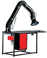 08549608 Urządzenie filtrowentylacyjne, stanowisko warsztatowe spawalnicze z ręcznym uruchamianiem wentylatora i z aparaturą elektryczną - bez ramion odciągowych ERGO-STW-R (moc: 0,55 kW, wydajność: 1500 m3/h)