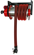 08549657 Odsysacz spalin, bęben odsysacza z napędem sprężynowym, zestawem wężowym, stoperem gumowym - bez ssawki, wentylatora i wyłącznika silnikowego ALAN-U/C-8 (długość węża: 8m, średnica: 150mm)