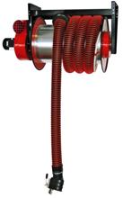08549668 Odsysacz spalin, bęben odsysacza z napędem sprężynowym, z wentylatorem zamocowanym do odsysacza, zestawem wężowym, stoperem gumowym, wyłącznikiem silnikowym WS - bez ssawki ALAN-U/C-12 (długość węża: 12m, średnica: 125mm)