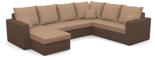 11260942 Narożnik z funkcją spania i poduszkami, pianka (wymiary: 290x235 cm)
