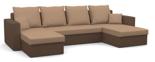11260944 Narożnik z funkcją spania i poduszkami, pianka (wymiary: 305x140 cm)
