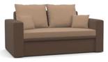 11260951 Sofa z funkcją spania i poduszkami, sprężyna bonell (wymiary: 152x87 cm)
