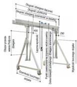 12848211 Aluminiowa suwnica bramowa z podwójnym dźwigarem i wciągnikiem (szerokość w świetle: 5000mm, wysokość: 3180/4330mm, udźwig: 2000 kg)