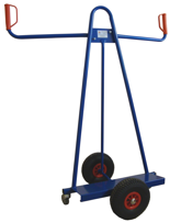 13340561 Wózek trójkołowy ręczny do przewozu dużych płyt (nośność: 150 kg)