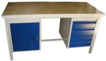 13340635 Stół warsztatowy z jedną szafką uchylną i jedną czteroszufladową SW (wymiary: 2000x700x850 mm)