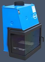 17043650 Wkład kominkowy Enka 15kW Wiktor Lewy UZ - do układów zamkniętych ciśnieniowych zabezpieczonych do 2,5 bar z płaszczem wodnym (lewa boczna szyba)