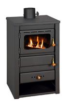 23055311 Piec wolnostojący 10kW na drewno, brykiet, węgiel (średnica spalin: 130mm)