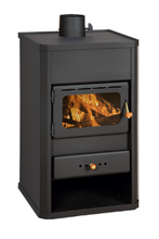 23055313 Piec wolnostojący 10kW na drewno, węgiel (średnica górna spalin: 130 mm)