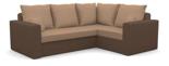 25460946 Narożnik z funkcją spania i poduszkami, pianka (wymiary: 235x185 cm)