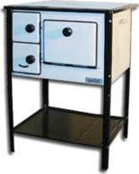 25915631 Kuchnia węglowa 7,5kW MINI II z płaszczem wodnym, wylot spalin z tyłu z prawej strony (nieobudowana, kolor: biały)