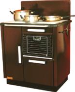 25960202  Kuchnia węglowa 9,2kW KAROLINA wylot spalin z  boku z lewej strony (kolor: brązowy)
