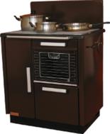 25964722 Kuchnia węglowa 9,2kW KATARZYNA z wężownicą, wylot spalin z  boku z prawej strony (kolor: brązowy)