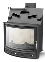 2959620 Wkład kominkowy Lechma 8kW PP-190 Korner Panorama z szybrem, narożny (szyba panoramiczna)