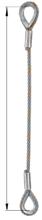 33948331 Zawiesie linowe jednocięgnowe zaciskane tulejkami cylindrycznymi miproSling Typu Fk (udźwig: 29 T, wymiary pętli: 830/415 mm, średnica liny: 52 mm, długość liny: 1 m)