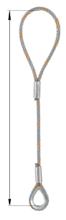 33948334 Zawiesie linowe jednocięgnowe zaciskane tulejkami cylindrycznymi miproSling Typu F1k (udźwig: 29 T, wymiary pętli: 830/415 mm, średnica liny: 52 mm, długość liny: 1 m)