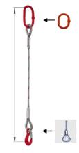 33948363 Zawiesie linowe jednocięgnowe miproSling FK 33,50 (długość liny: 1m, udźwig: 33,5 T, średnica liny: 56 mm, wymiary ogniwa: 350x190 mm)