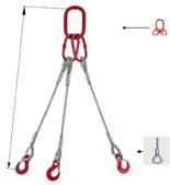 33948453 Zawiesie linowe trzycięgnowe miproSling FK 29,0/21,0 (długość liny: 1m, udźwig: 21-29 T, średnica liny: 36 mm, wymiary ogniwa: 340x180 mm)