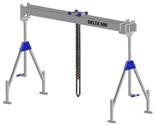33960023 Wciągarka bramowa aluminiowa z wózkiem pchanym i wciągnikiem łańcuchowym miproCrane DELTA 500M (udźwig: 1000 kg, szerokość: 8100 mm, wysokość: 1820/2920 mm)