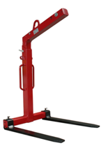 3398562 Zawiesie widłowe do podnoszenia palet KMI 1,5 (udźwig: 1,5 T, długość wideł: 1000 mm)