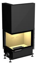 48946355 Wkład kominkowy 24kW ARYSTO A11 WW L DJ H szyba podnoszona do góry, z płaszczem wodnym (lewa boczna szyba bez szprosa, wymiar frontu: 675 x 455 x 510)