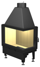 48946359 Wkład kominkowy powietrzny 14kW A10P[750+450]/450 DJ (prawa boczna szyba)
