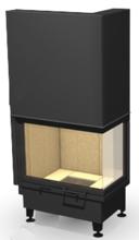 """48955116 Wkład kominkowy 14kW ARYSTO 10 P """"SJ"""" H szyba podnoszona do góry, dopalanie spalin + rekuperacja (drzwiczki prawe jednolite, wymiar frontu: 650 + 370 x 510)"""