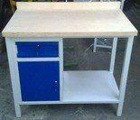 77156941 Stół warsztatowy, 1 szuflada, 1 szafka (wymiary: 1000x600x900 mm)