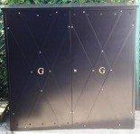 77157157 Szafa gazowa ozdobna, bez pleców i dna (wymiary: 1500x1500x500 mm)