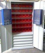 77157248 Szafa narzędziowa z pojemnikami, 4 szuflady, 38 pojemników (wymiary: 2000x900x500 mm)