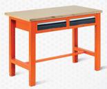 99551604 Stół warsztatowy, 2 szuflady (wymiary: 850-900x1245x620 mm)