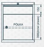 99551640 Szafka typ S, 1 szuflada, 1 drzwi (wymiary: 625x520x550 mm)