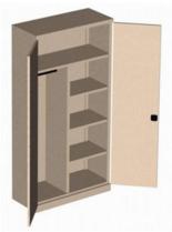 99551659 Szafa biurowa 0,7mm, 2 drzwi, 4 półki (wymiary: 1990x1000x435 mm)