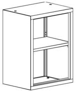 99551724 Nadstawka do regału zamkniętego, 1 półka (wymiary: 810x800x435 mm)